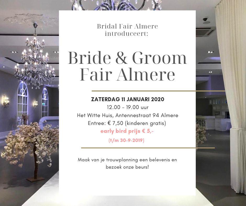 Flyer bride groom fair almere
