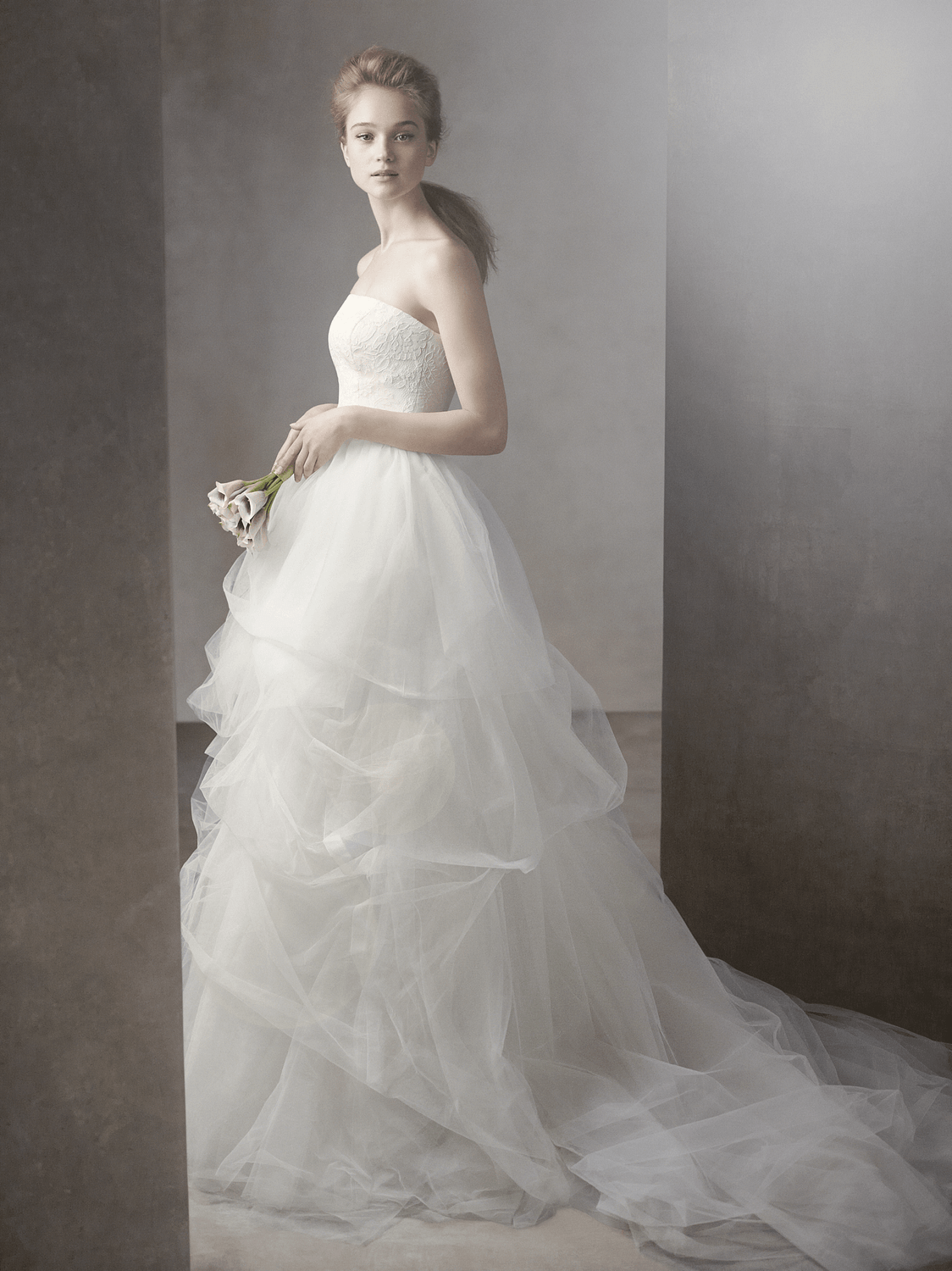 white by vera wang wedding dress spring  bridal gowns vw